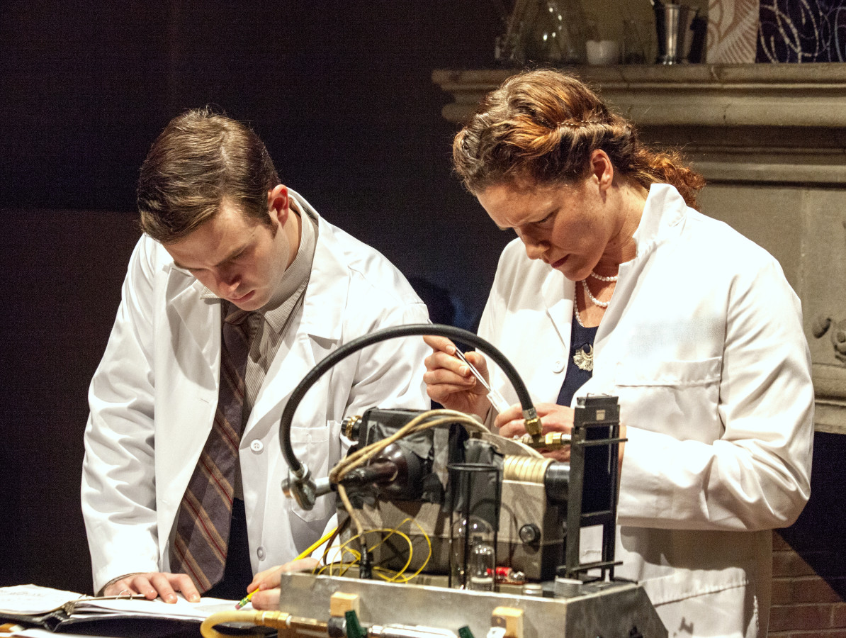 Luke Brady as Raymond Gosling and Laura Lowry as Rosalind Franklin