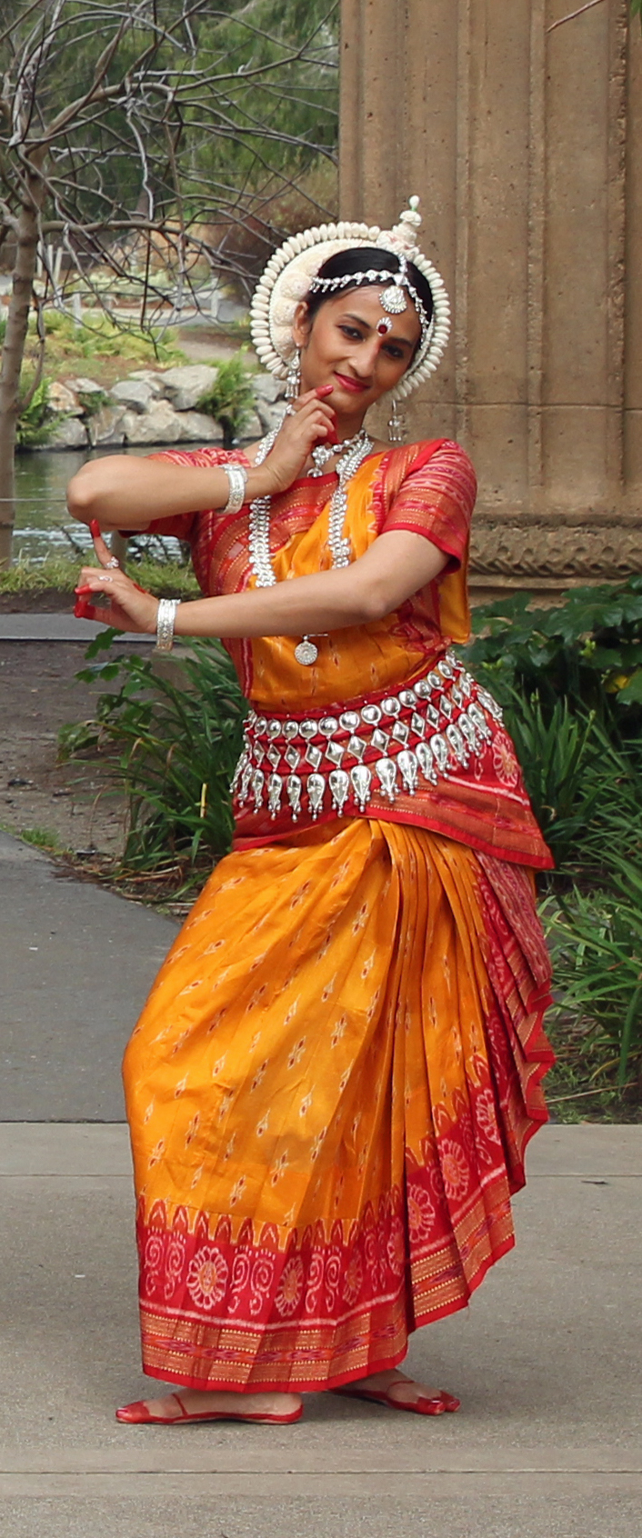 Aparna Krishnamoorthy as the Goddess